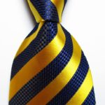 Royal Blue/Golden Yellow Diag Striped