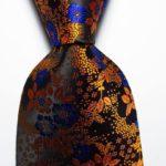 Golden/Copper/Nvy Blue Floral
